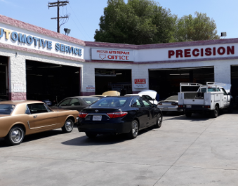 Precision Auto Repair and Tires work area